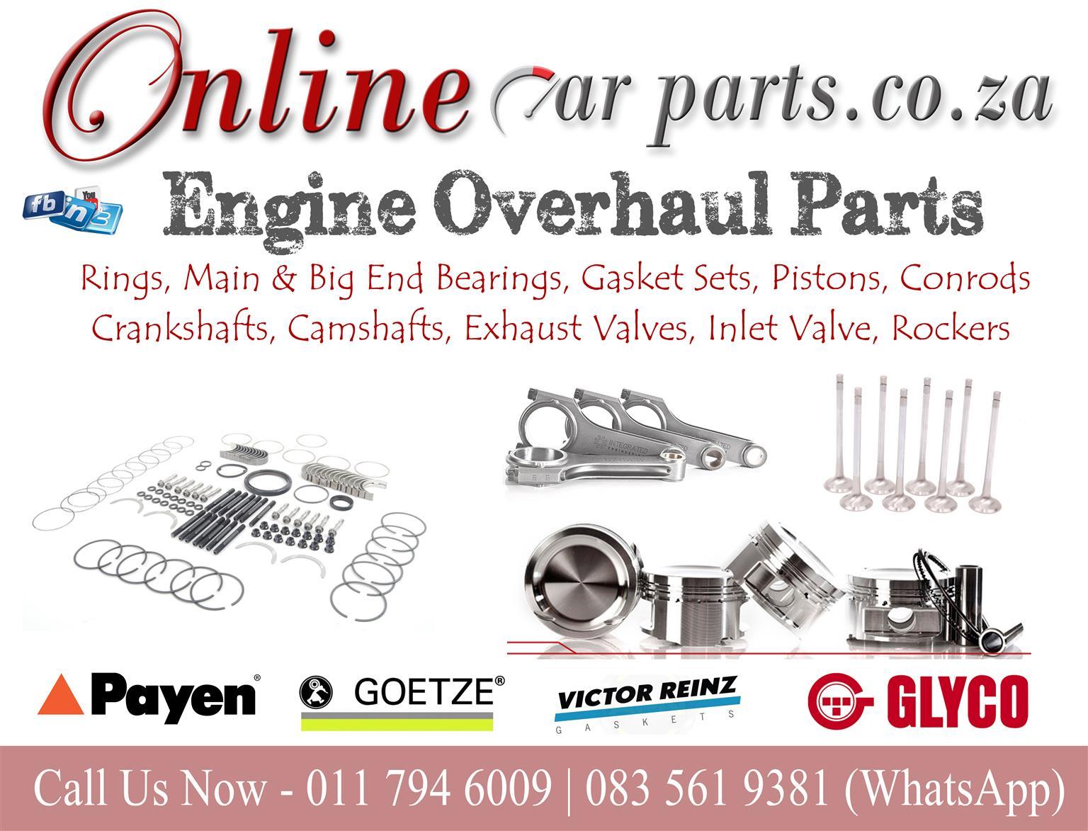 High Quality Engine Overhaul Parts Rings, Main & Big End Bearings, Gasket Sets, Pistons, Conrods, Crankshafts, Camshafts, Exhaust Valves, Inlet Valve, Rockers