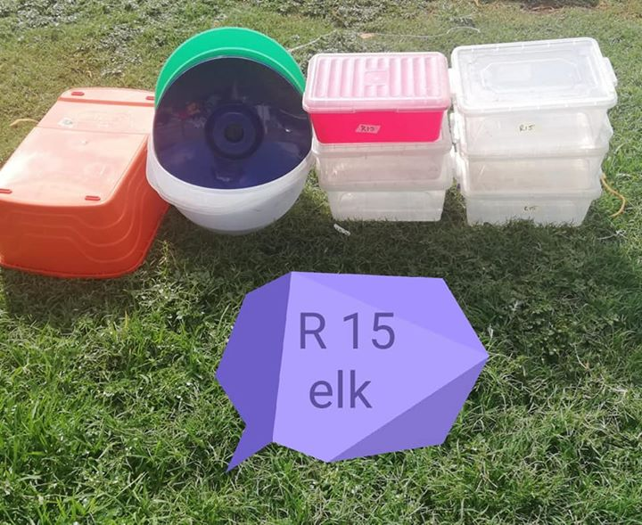 Various plastic items for sale
