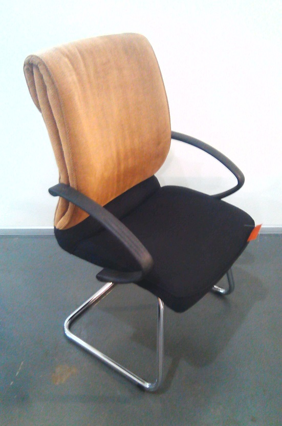 2 Tone fabric visitor chair