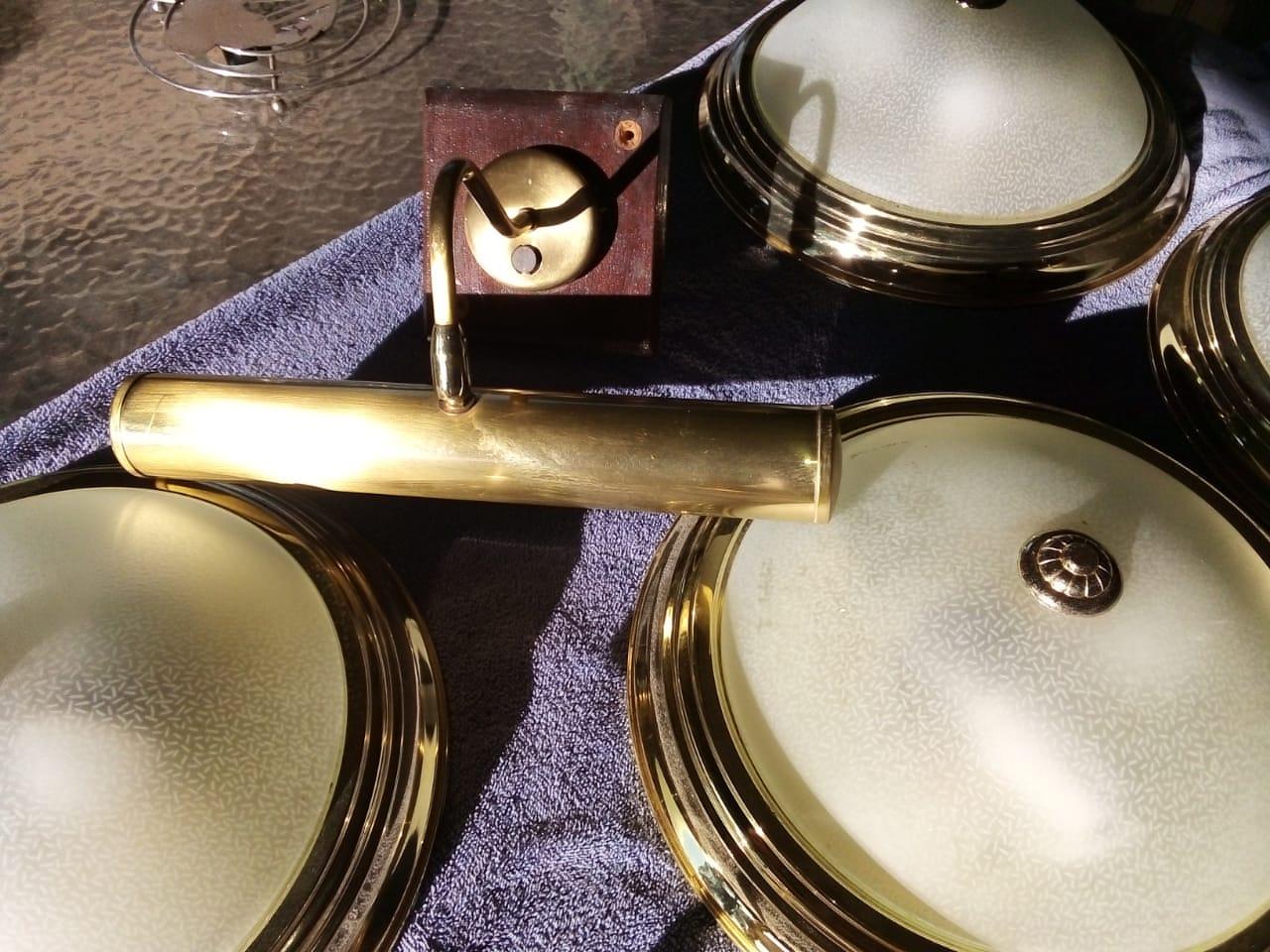 Ceiling Round Light Gold/Bedside Lights Gold