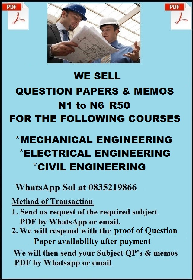 Engineering Question Papers with Memos