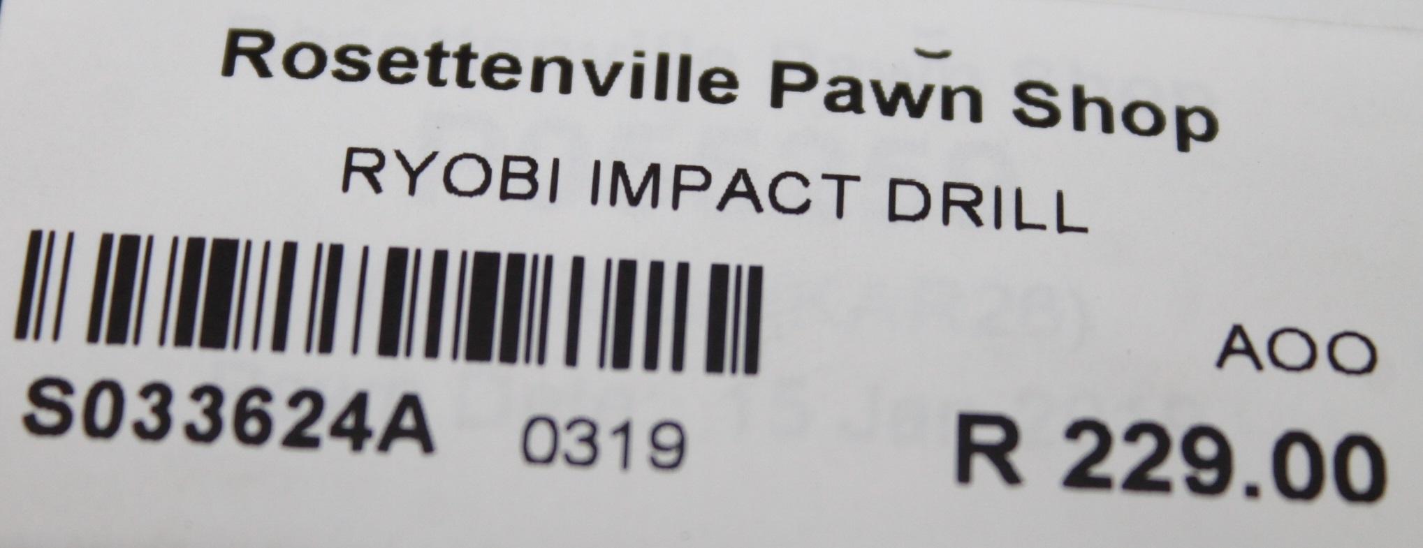 Ryobi impact drill S033624A #Rosettenvillepawnshop