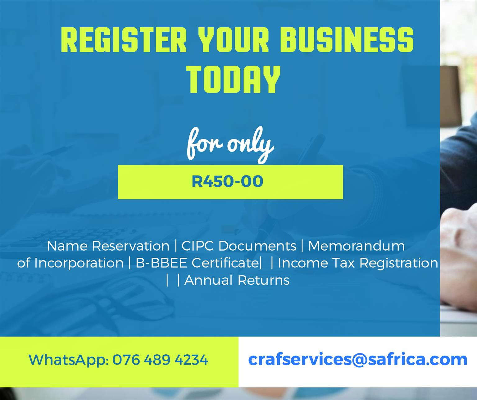 Register your business today