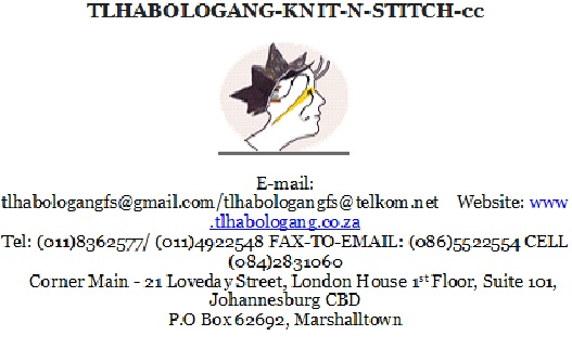 Tlhabologang Knit Stitch Fashion Designing School Junk Mail