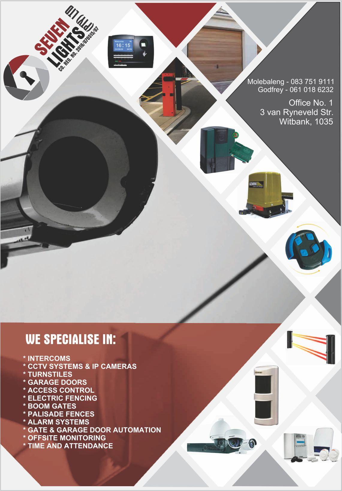 INSTALLATION OF GATE MOTORS, GARAGE DOOR AND MOTORS, ALARM SYSTEMS, CCTV, IP CAMERA, HANDYMAN SERVICES