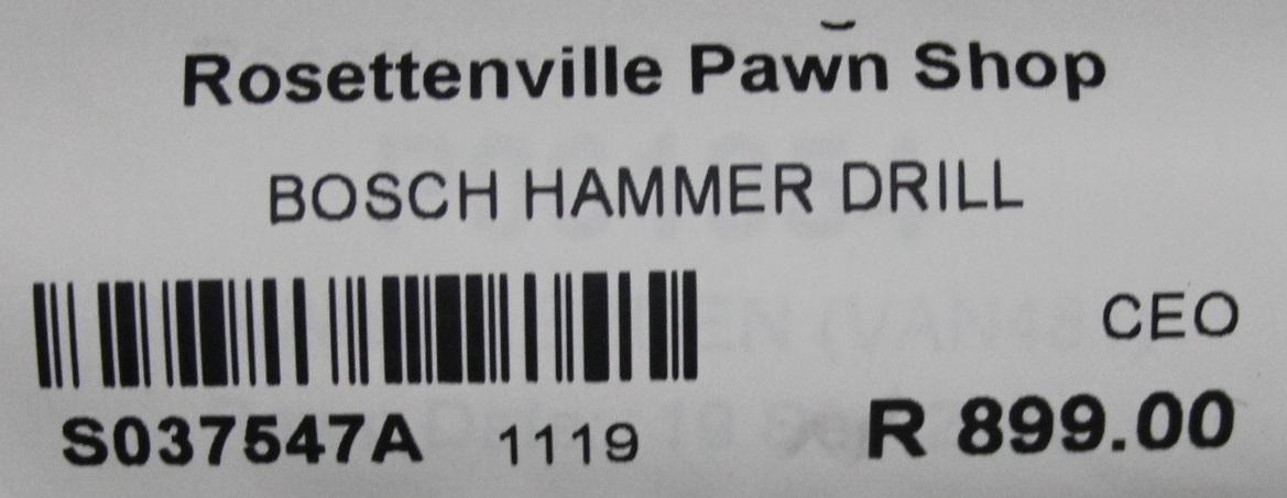 Bosch hammer drill S037547A #Rosettenvillepawnshop