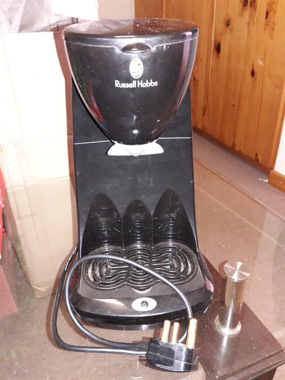 Russell Hobbs Satin Take Two 2 cup coffee/tea maker
