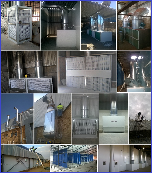 EXTRACTORS for spray booths / dust / fumes /preparation areas