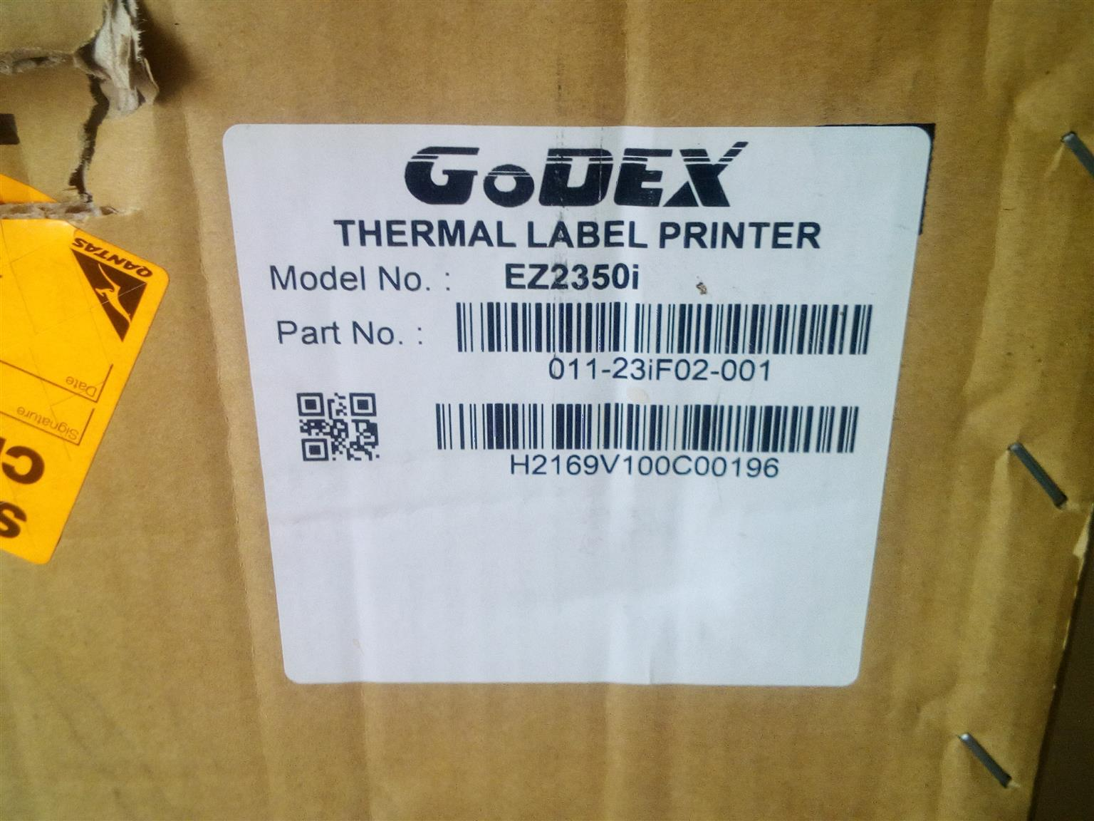 GoDex EZ2351i Transfer/ Direct Thermal Label Printer