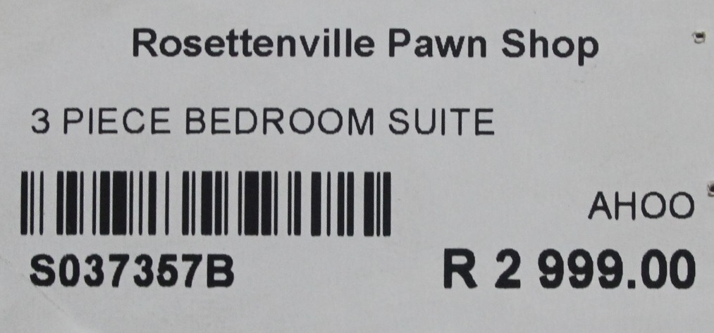 3 piece bedroom suite S037357B #Rosettenvillepawnshop