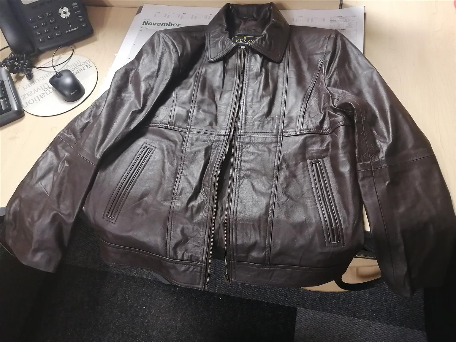 Mens leather jacket for sale (Brand new)