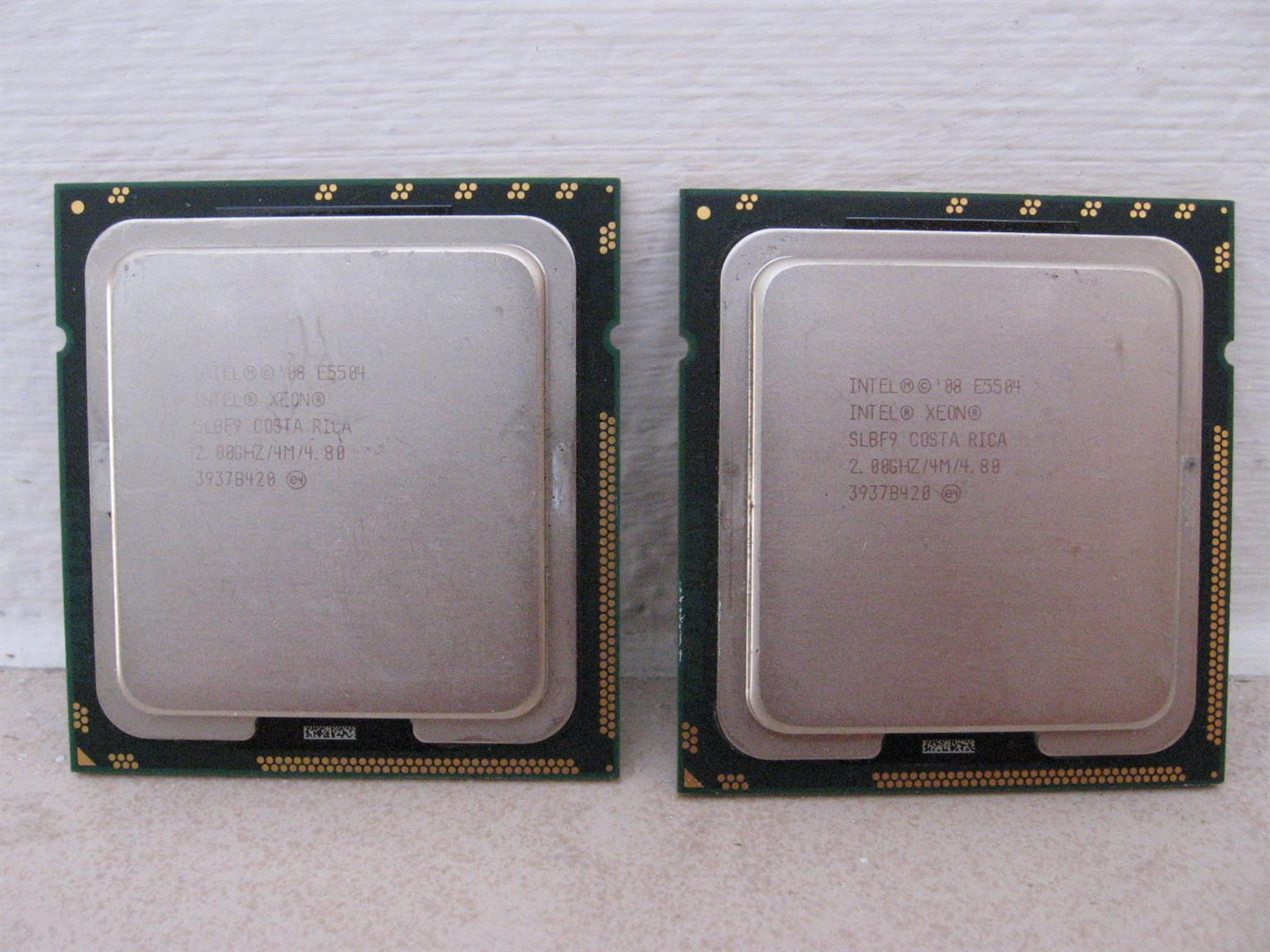 2x Intel Xeon E5504 Server CPUs for sale or to swap for ONE i5 or i7 3rd gen CPU