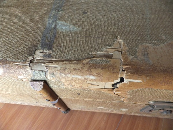 Vintage Antique Steamer storage trunk - see pictures for condition