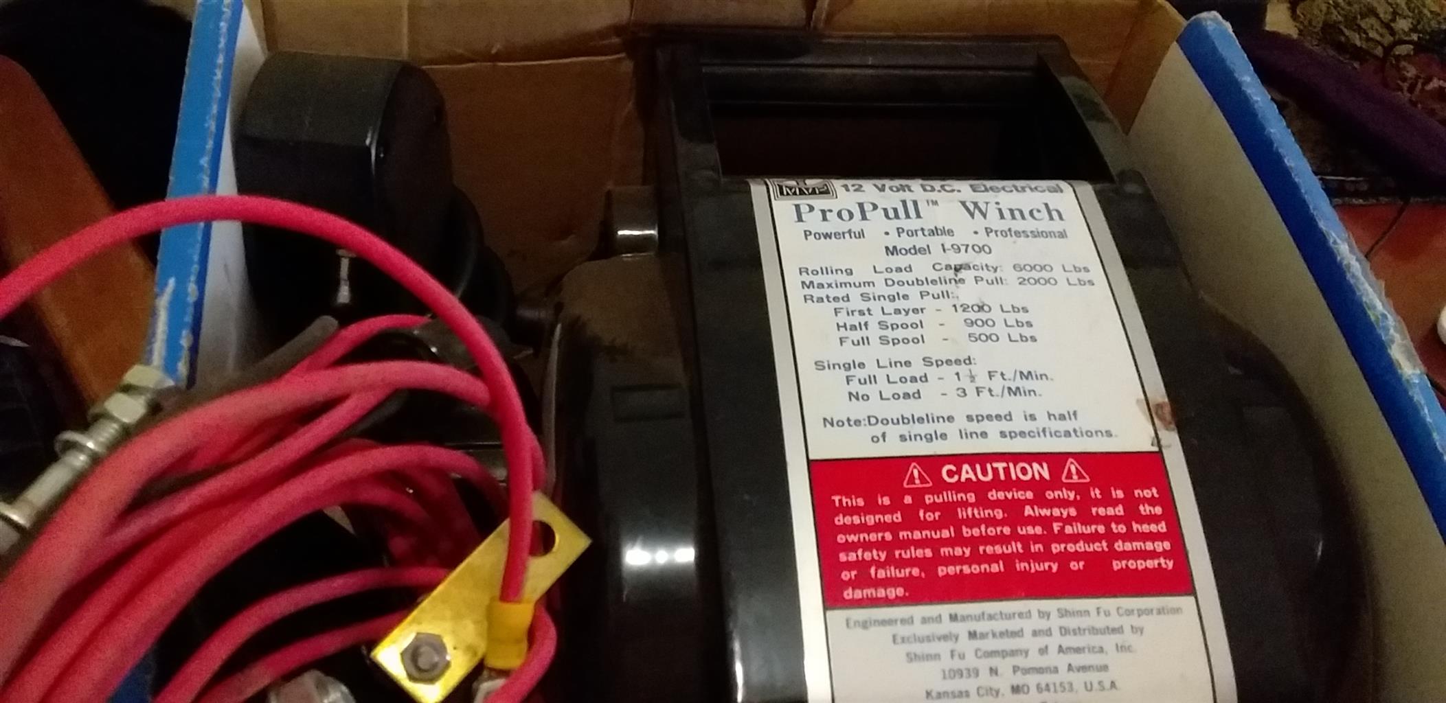 12w Electrical winch