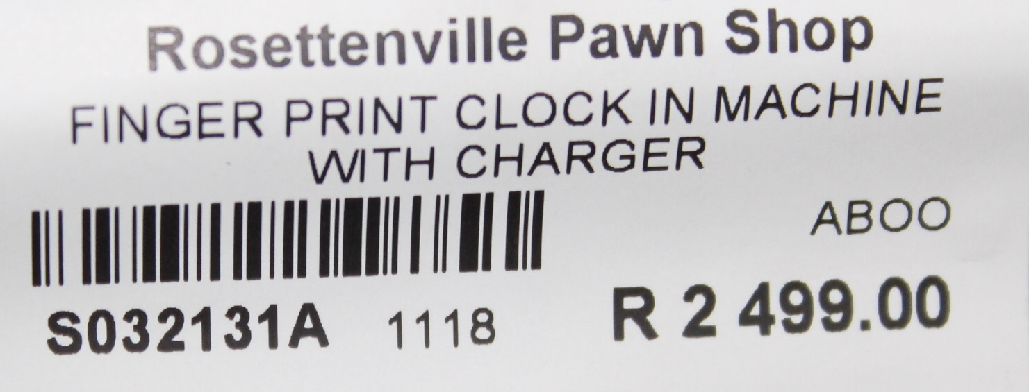 Finger print clock in machine with charger S032131A #Rosettenvillepawnshop