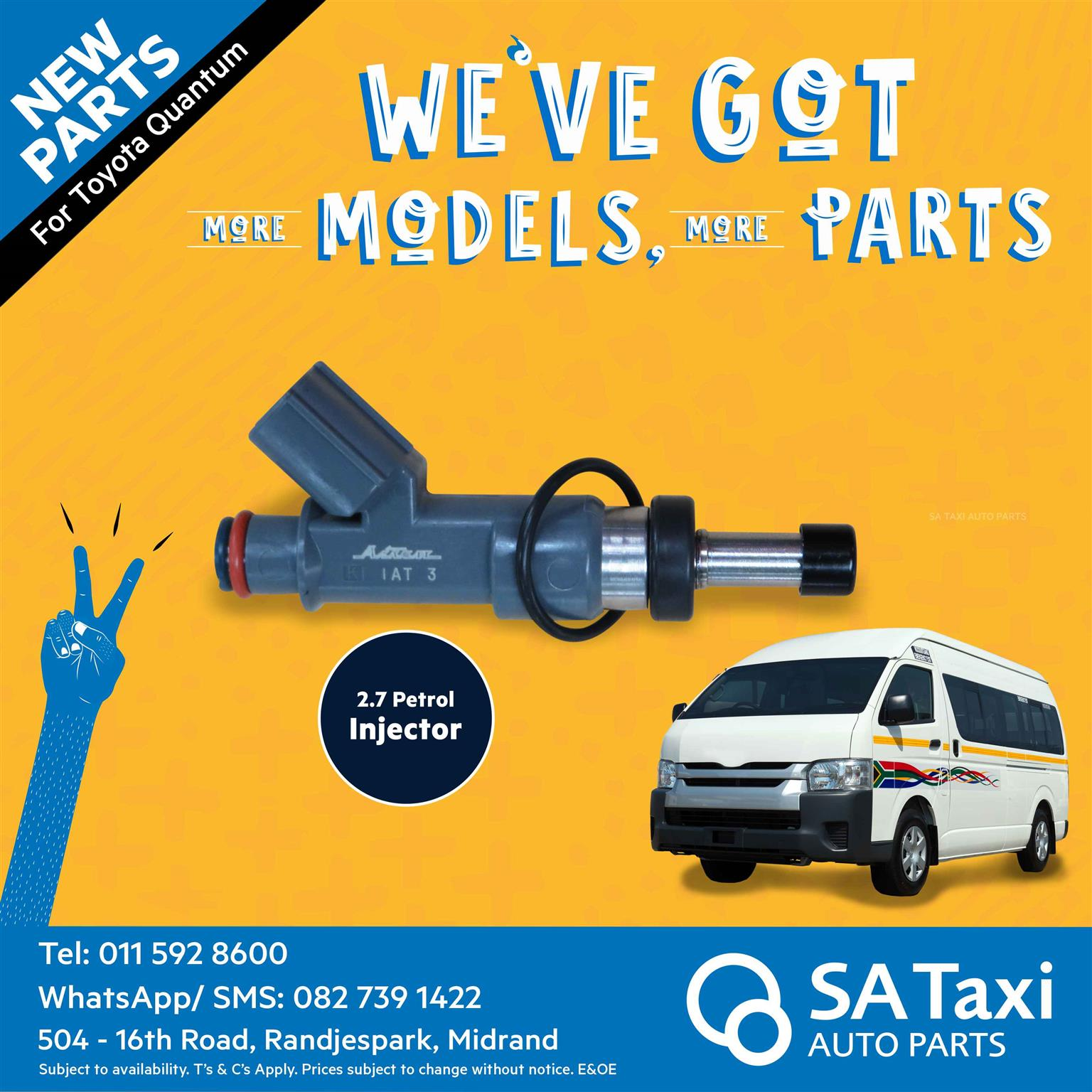 New 2.7 Fuel Injector for Toyota Quantum