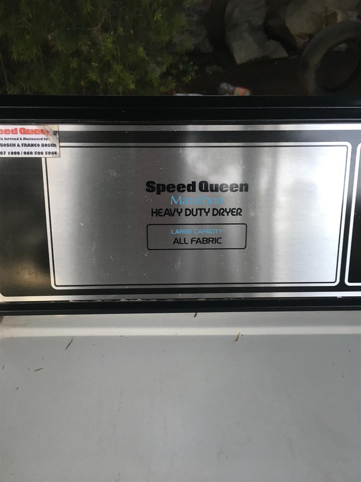 Tumble dryer, speed queen, heavy duty