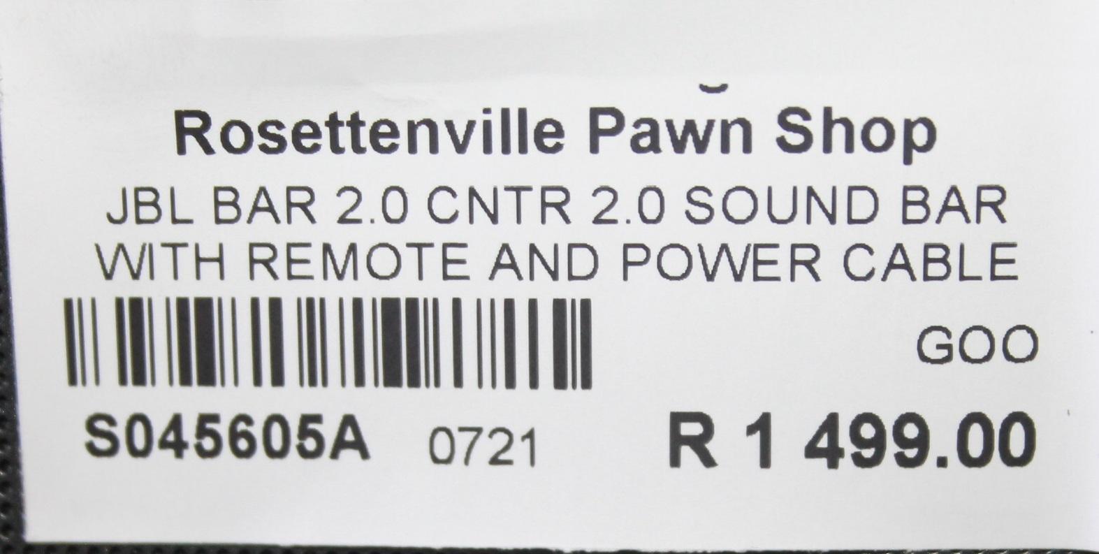 JBL BAR 2.0 SOUND BAR WITH REMOTE S045605A #Rosettenvillepawnshop