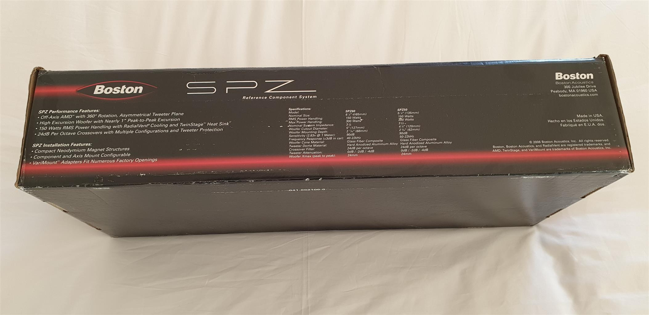 "SPZ50 - Boston Acoustic 5.25"" 2 Way Reference speaker System."