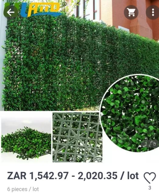 Artificial Plant Wall/Backdrop/Decor