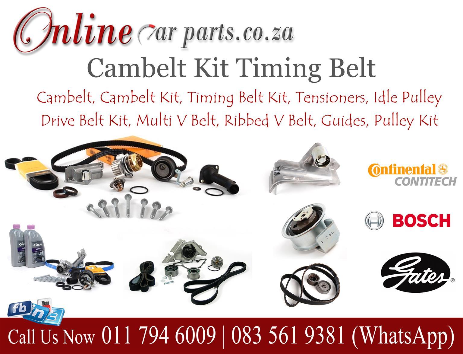 High Quality Cambelt Kit Timing Belt Kit Tensioners Idle Pulley Drive Belt Kit Multi V Belt Ribbed V Belt Guides Pulley Kit