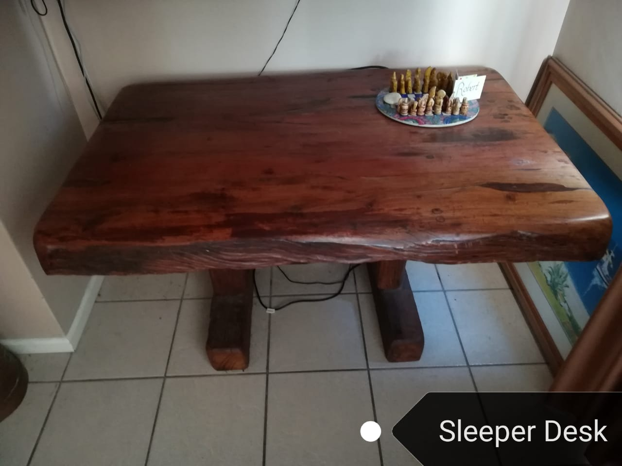 SOLID DESK AND BENCH – MADE FROM RAILWAY SLEEPERS