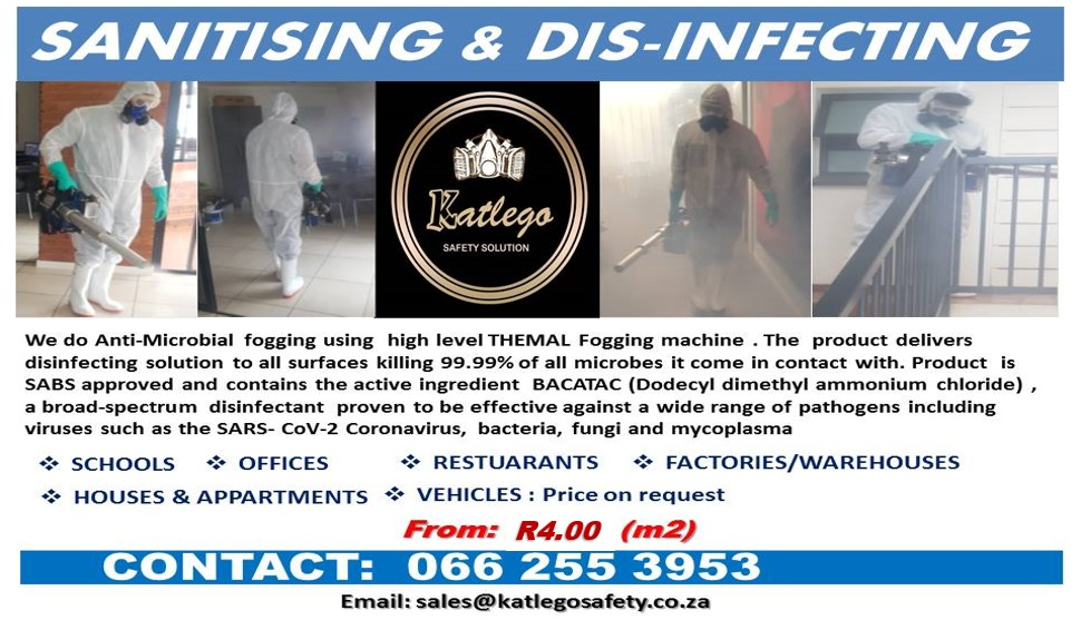 Sanitising and Disinfecting Services