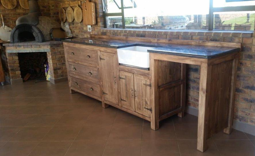 Kitchen Cupboard Scullery unit Farmhouse series 3000 - Stained