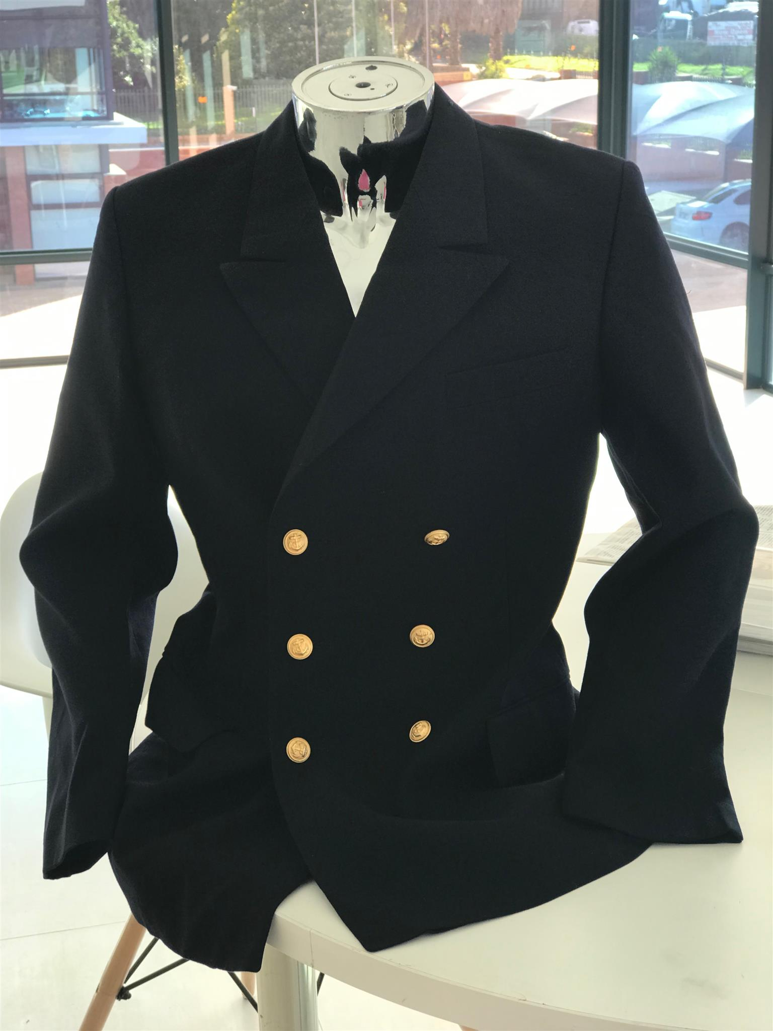 Pay R750 for Vintage German Navy Gaberdine Pea Coat