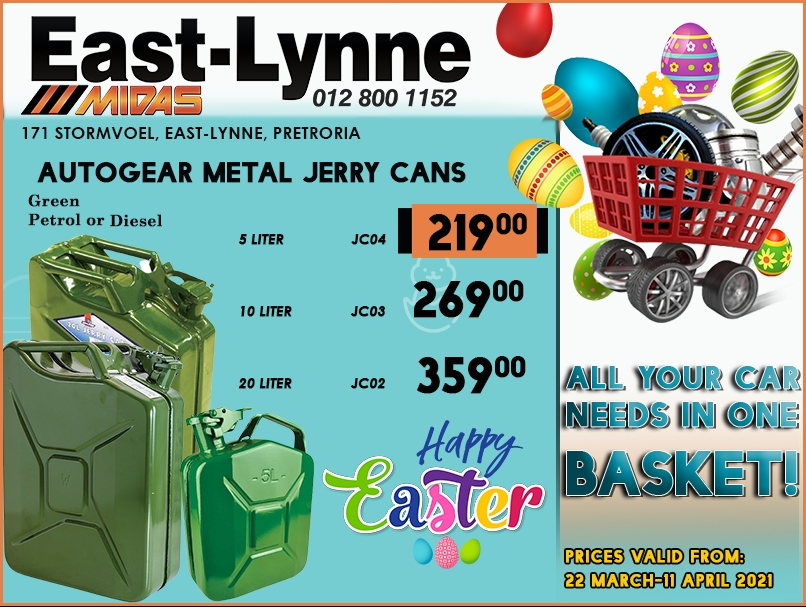 Autogear Metal Jerry Cans at these LOW prices!