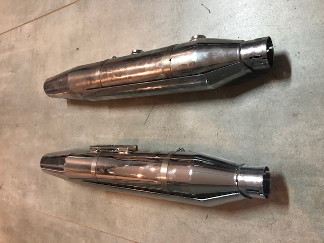 Cafe Race Style Exhaust Mufflers