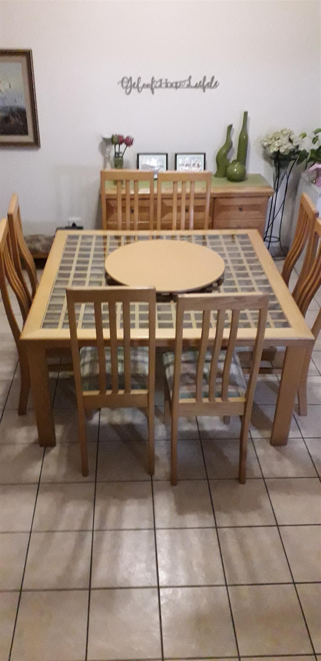 Solid Oak Dining Table With 8 Chairs Buffet Junk Mail