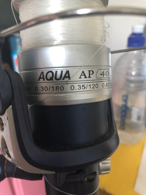 3 X Aqua Pak Poseidon Reels and Rods 2.44 meter