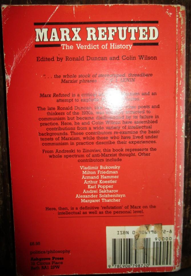 Marx  Refuted   The Verdict of History
