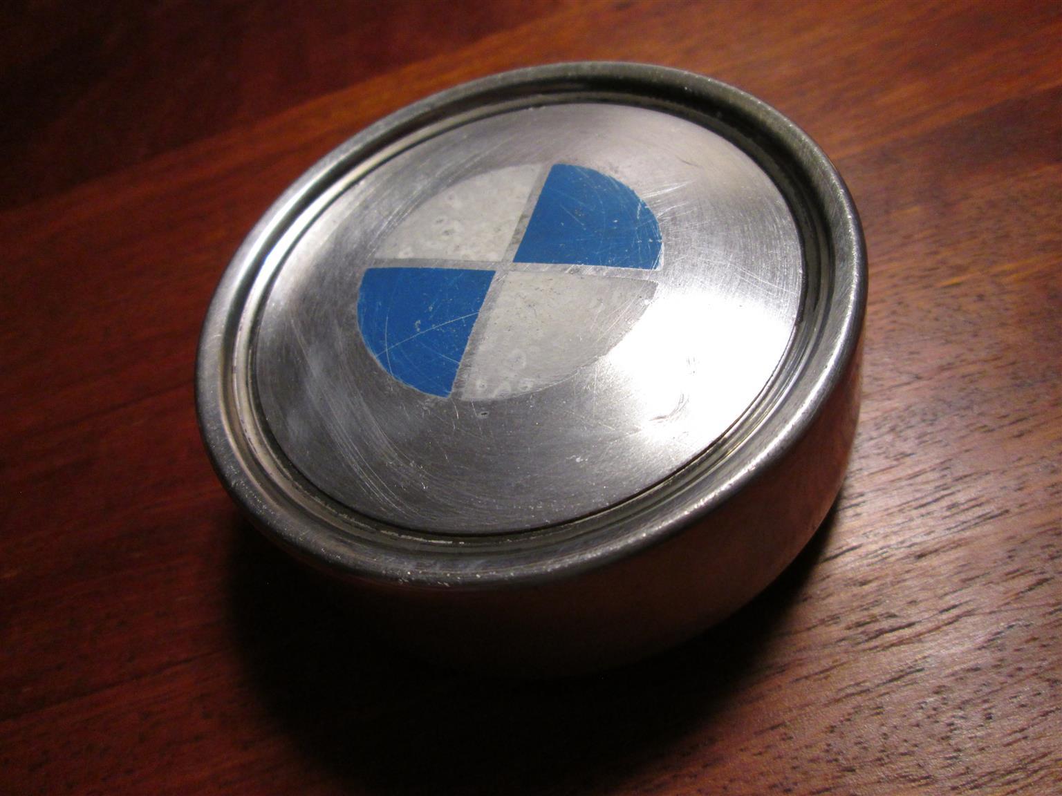 1x BMW metal wheel cap, centre cap, older/classic models, 75-80 mm diameter, used