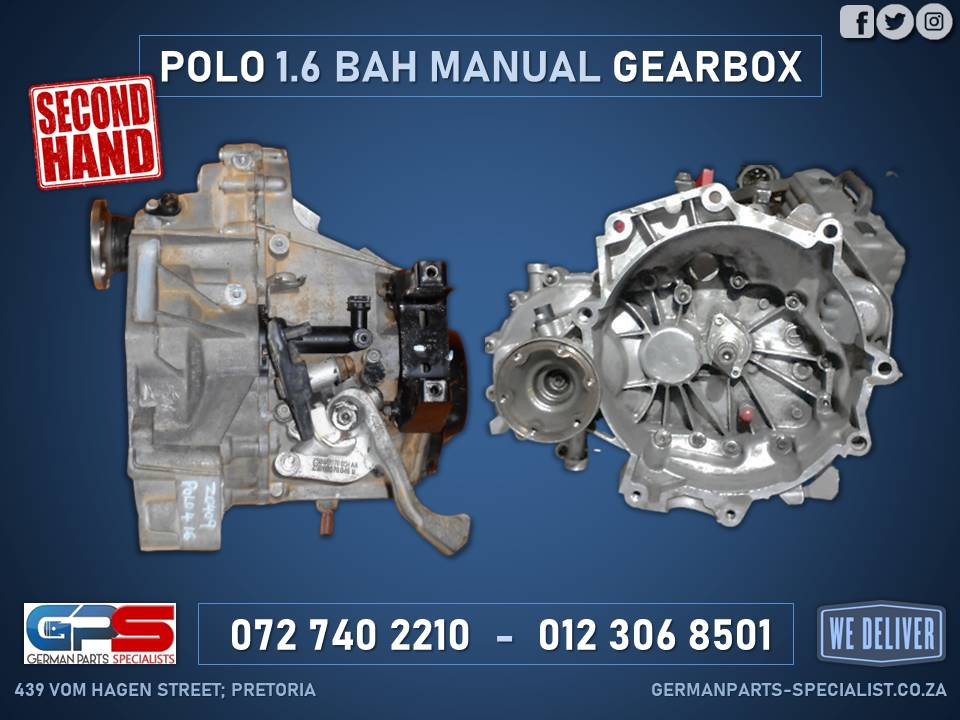 Volkswagen Polo 1.6 BAH Manual Used Gearbox