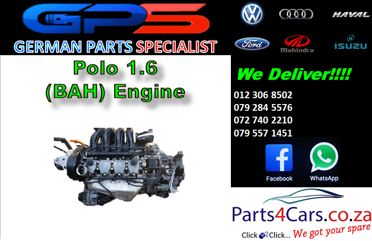 VW Polo 1.6 (BAH) Engine for Sale
