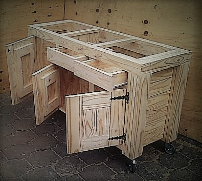 Kitchen Island Farmhouse De Lux series 1550 Raw