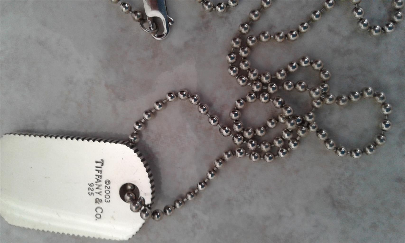 766018007 Tiffany & Co. rare 2003 Coin Edge Dog Tag necklace | Junk Mail