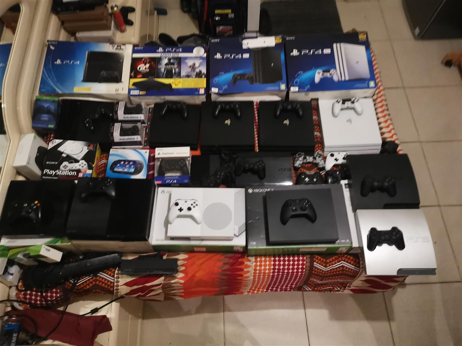 All gaming consoles for sale ps4 xbox one s 360 ps4 pro slim