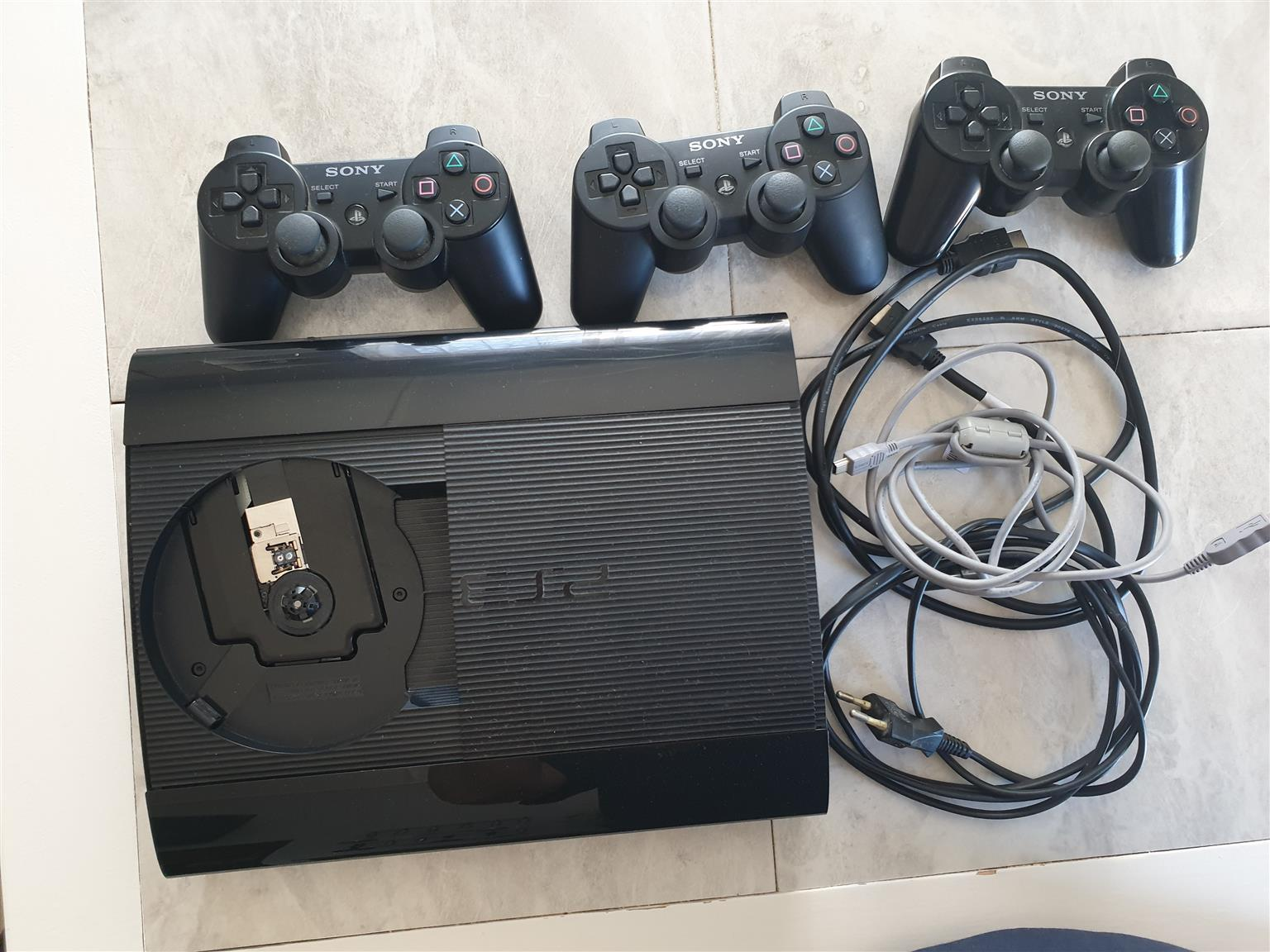 PS3 Game console and nine games