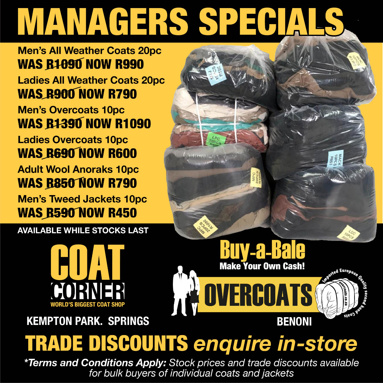 Buy Bales from R450! BUY A BALE. MAKE YOUR OWN CASH.