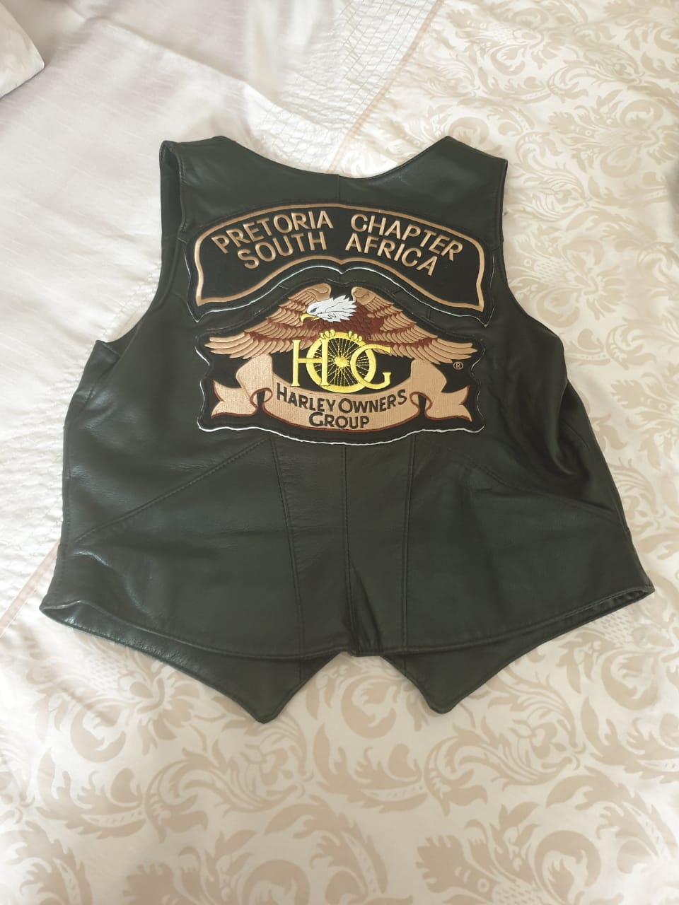 Harley HOGS ladies leather waistcoat Size 36
