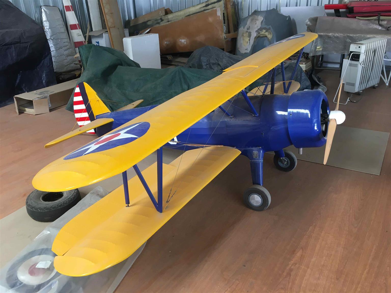 Giant Scale RC Model Boeing Stearman