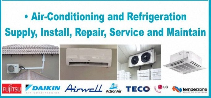 Residential and Commercial Air-conditioner Installers, Re-gassing, Servicing and Relocation call 0833726342