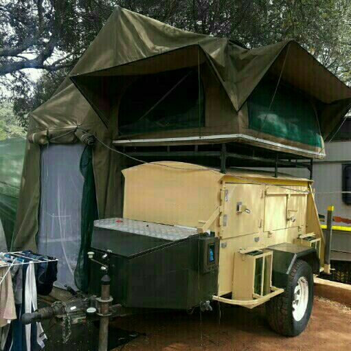 Camping Trailer with rooftop tent for sale