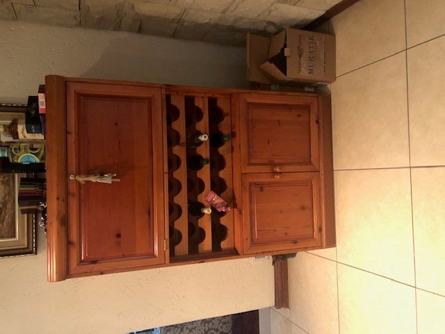 Genuine Oregon liquor cabinet and wine storage unit