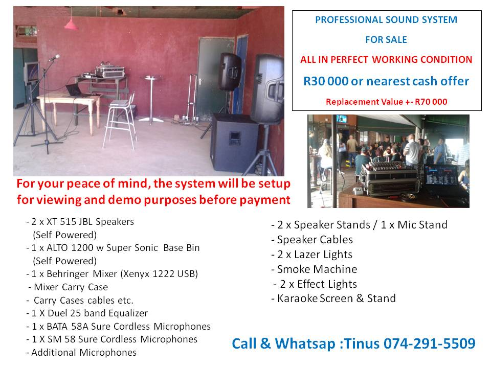 PROFESSIONAL PERFORMERS SOUNDS SYSTEM