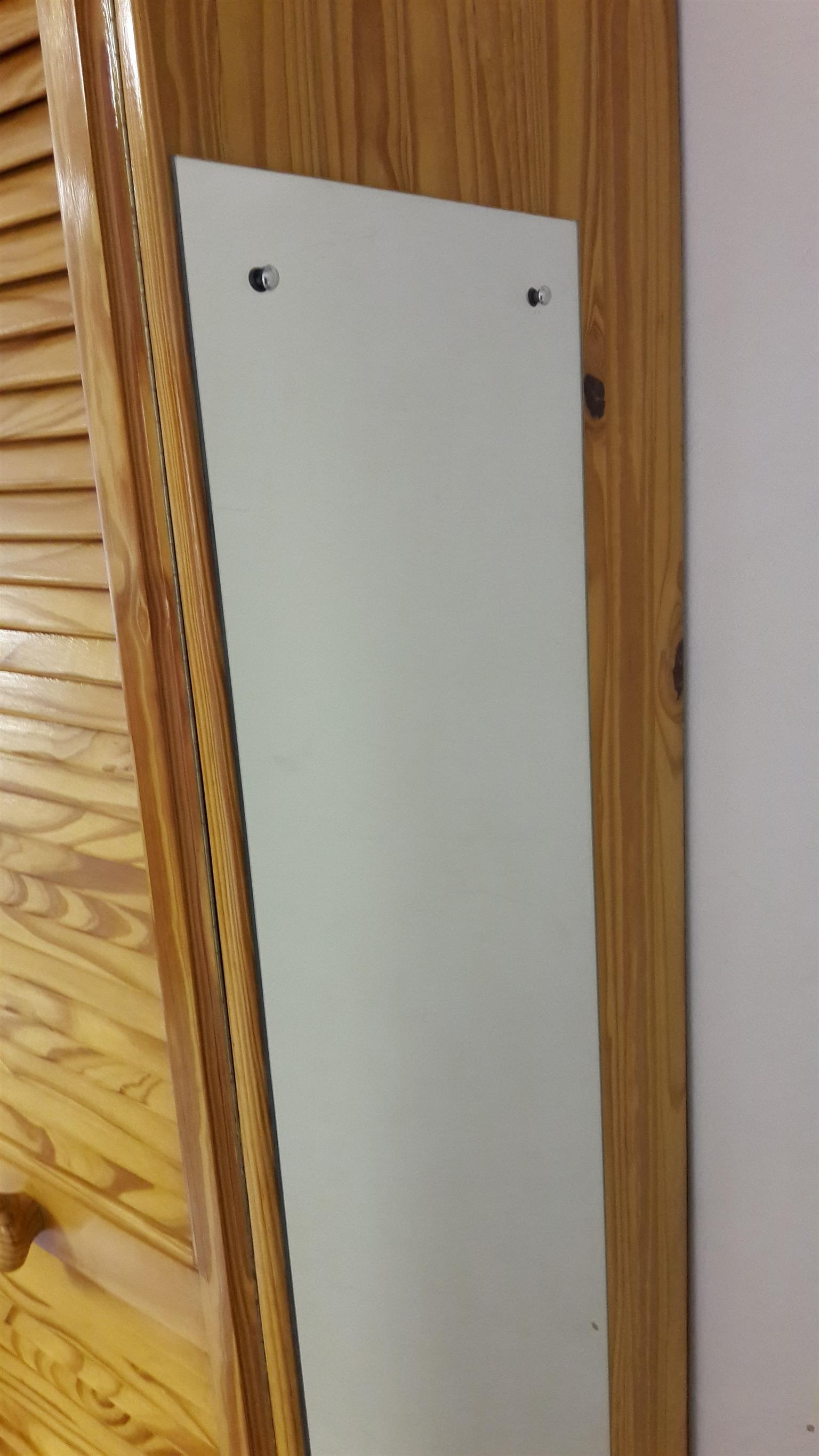 Solid Pine wardrobe with louver doors