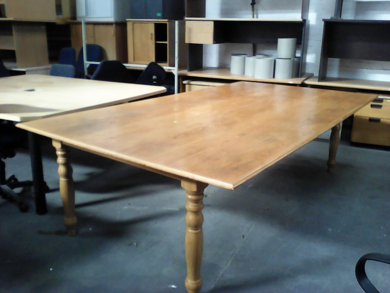 10 to 12 Seater Genuine Oak Boardroom/Dinningroom Table with Table Tennis board on flip side - R5500
